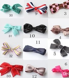 Lovely baby girl bowknot hair barrettes fashion kids cartoon ribbon hairpin hairclips children Christmas party headwear jewelry gift