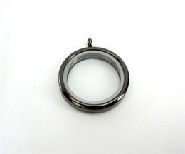 JK22-4 1pcs 30mm round glass gun blackcolor floating locket could put in floating charms making necklace keychain magnetic