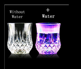 Wholesale NEW Hot sell ML LED Flashing Glowing Water Liquid Activated Light up Wine Glass Cup Mugs