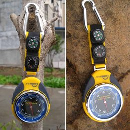 Wholesale 4in1 Digital Altimeter Barometer Compass Thermometer for Outdoor Camping Hiking Climbing Y0200