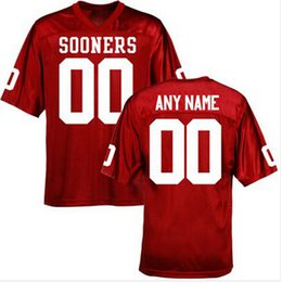Factory Outlet- Custom Oklahoma Sooners College Football Jersey,Personalized Red White Double Stitched Top Quality Cheap Jersey,Any Name&Num