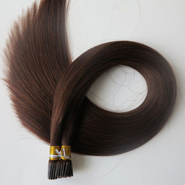 Pre bonded I Tip Brazilian human Hair Extensions 100g 100Strands 18 20 22 24inch #4 Dark Brown Indian straight Hair products