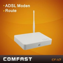 Wholesale 4ports adsl wireless router thomson v7 ADSL2 modem router comfast TG585V7 dsl wireless rotuer modem rotuer adsl wifi b g