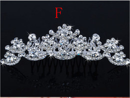 Wholesale Best Selling Bridal Fascinators With Rhinestone Head Pieces Crystal Bridal Headbands Tiaras Crowns Wedding Hair Accessories