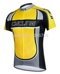 Wholesale-New Men's Yellow Cycling Clothing Cycling Jerseys Bike Bicycle Jersey Wear Short Sleeve Bike Clothing Jerseys Top Quality