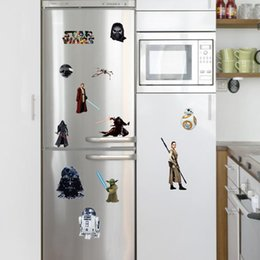 Wholesale 2016 NEW death star wars roles Yoda wall stickers kids room decoration diy home decals movie fans mural art posters home decoratio