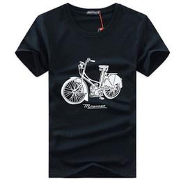 2015 summer men's short sleeve T shirt Korean o neck T-shirt Bicycle print plus size M-XXXL black white tops