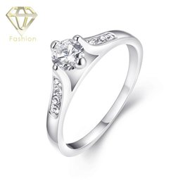 Platinum Engagement Rings New Arrival Fashion Platinum Plated with AAA+ Cubic Zirconia Diamond Ring Jewelry for Couples Party Wedding