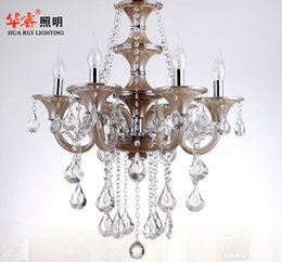 Wholesale Traditional project elegant chandelier crystal candle lamp luxury hotel lobby lights top hat lighting fashion indoor light