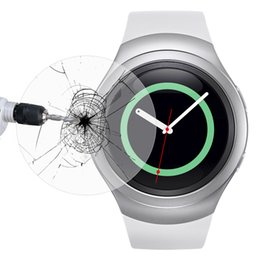Wholesale Link Dream Tempered Glass Screen Protector Smartwatch Protective Cover Watch Guard Film for Samsung Gear S2 S2 Classic