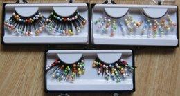 Wholesale akeup Tools Accessories False Eyelashes Minimum order Pair color bead eyelash set ruslana korshunova personality aesthetic make up
