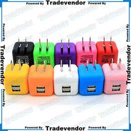 Wholesale Universal Big Type Foldable Folding USA Plug Dual USB Wall Charger Home AC Power Adapter Charging For iPhone iPad Samsung Mobile Phone