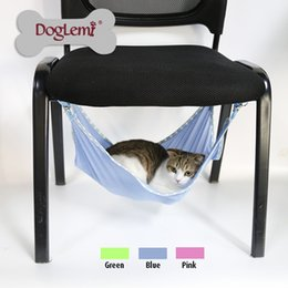 Wholesale Summer Choice Under Chair Breathable Air Mesh Pet Cage Hammock Cat Bed Hammock