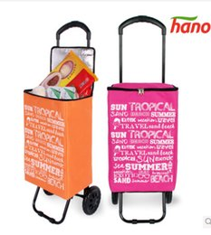 Wholesale New style Foldable light weight portable Insulation super large volume shopping trolley cart