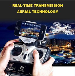 Wholesale FPV Quadcopter Wifi real time transmition data drone Quadcopter V mAh Gyro aerial RC Helicopter Drone Aereo Con Camara