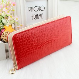 Wholesale Ship Pursed Brand Name - Wholesale-Hot fashion Free shipping women's wallet Brand name genuine Leather Wallet for women Gent Leather purses wholesale L001