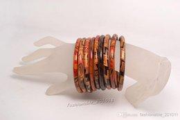 Wholesale 100pcs Stripes Spots Womens Big Wood Bangles Fashion Punk Crude Woods Logs Bracelet Wrist Bangle mm