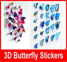 Cinderella butterfly 3d butterfly decoration wall stickers 12pc 3d butterflies 3d butterfly pvc removable wall stickers butterflys