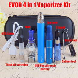 New authentic eGo 4 in 1 Vape Pen with Wax Glass Globe Single Cotton Coil CE4 Eliquid Ago Dry Herb vaporizer pen ce3 cartridges Starter Kits