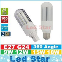 Wholesale 2016 New Design PL Light LED Corn Light W W W W E27 G24 Led Bulbs CFL Lamp Degree AC V