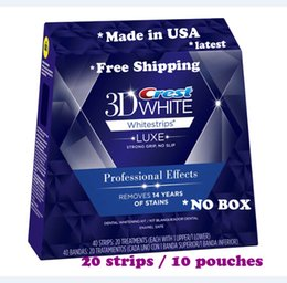 Wholesale Crest D White Whitestrips Professional Effects White Whitening Teeth Strips Strips Pouch Box