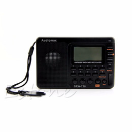 Wholesale New for Portable Digital Tuning LCD Receiver TF MP3 REC Player AM FM SW Full Band Radio