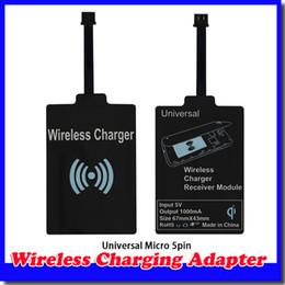 New Qi Charger Receiver Wireless Charging Adapter Receptor Receivers Pad Coil For Samsung Galaxy S3 S4 S5 Note 2 3 iphone 5 6 Micro mobile