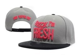 Wholesale-2015 New fashion High quality Sorry Im Fresh cap snapback baseball hat adjustable skateboard cap casual baseball cap cheap sale