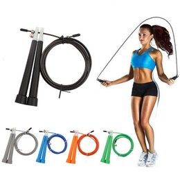 Wholesale 3M Adjustable Steel Wire Cable Skipping Speed Jumping Rope Crossfit Boxing Gym Fitness