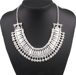 Fashion Europea and Us Famous Brand Jewelry Coin Necklace Silver Plated Statement Chunky Necklace Half Moon Necklaces & Pendants