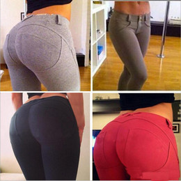 Wholesale Plus Size Sexy Leggings Slim Fitness Women Hip Push Up High Waisted Elastic Legging Pants Sexy Pencil Stretch Jeans Skinny Jeggings