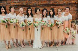 Custome Made Bridesmaid Dresses Tulle Skirt Tea-length Women Skirts 2015 Cheap Midi Sheer Mesh Skirt Women Short Party Jupe Saias Femininas