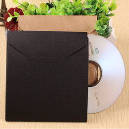 Wholesale 13 cm quot Kraft Paper CD Sleeve Discs DVD Packaging Bag Case CD Packing Cover Holder Box Envelopes For Wedding Party Baby Shower