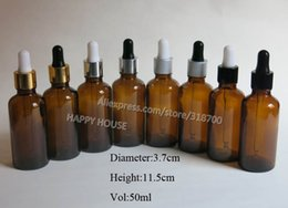Free Shipping 360pcs lot 50ml Amber Glass Bottle with Dropper, 50cc Brown Glass Essential Oil Bottle, 50cc Amber Dropper Bottles