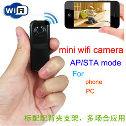 Wholesale Mini Camcorder WiFi Camera Mini Spy hidden DVr Cam Camcorder Video Recorder Wifi HD Sport Wireless Baby Monitor IP Cam Remote by Phone