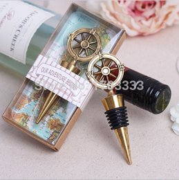 Wholesale wedding favor gift and giveaways for guest quot Our Adventure Begins quot Bottle Stopper party souvenir