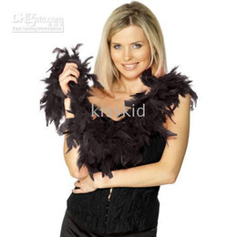 10Pcs Dress Accessory Black Feather Boa Party Costume 2M Thicken 60g Home Decoration Festive Supplies