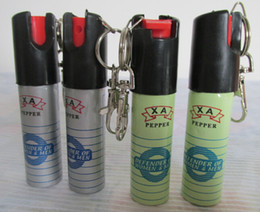 Wholesale 5pcs PEPPER SPRAY SELF DEFENSE DEVICE WITH KEYCHAIN ANTI SAT Self defence Women defend Wolf equipment