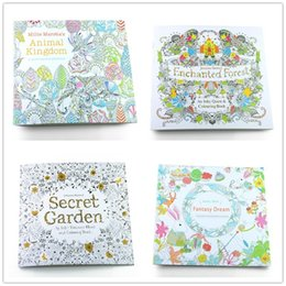 Wholesale PrettyBaby secret garden coloring book painting drawing book Pages Animal Kingdom Enchanted Forest Relieve Stress For Children Adult