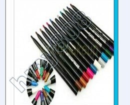 New Makeup Rotary Retractable waterproof Eyeshadow Eyeliner Pencil!12 Colors(500pcs)