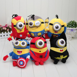 Wholesale Sale set cm Despicable Me minion plush toys doll Captain America Superman Spider Man Batman Thor Iron Man Minions Toy