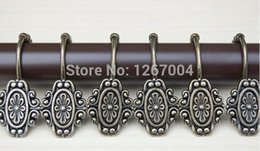 Wholesale 10set cm metal shower curtain hook hook fine decorative pattern restoring ancient ways never rust New Fashion Hot style