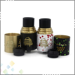 Wholesale Mini Temple RDA Rebuildable Atomizer Airflow Control mm Post Holes mm Dual Post Atty With Extra AFC Ring fit Mods DHL Free