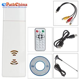 Wholesale Digital USB Analog Signal TV Stick Box Worldwide Receiver FM Radio for PC Laptop