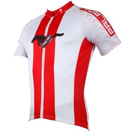 Wholesale-White shirt with red bars men's jersey cycling jersey short sleeve bike jersey road bike jersey Free Shipping