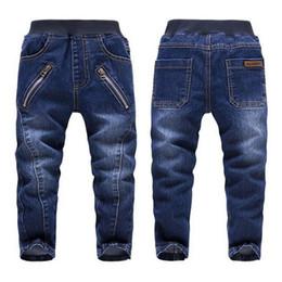 Wholesale High Quality Baby Boys Jeans Autumn Children s Washed Zipper Blue Cotton Denim Pants Kids Cowboy Trousers Clothing