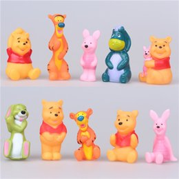 Wholesale winnie the pooh bear Toys Stuffed Animals action figures Dolls Baby Bear Vigny looking for Robin vinyl pvc gift cake decoration Tigger