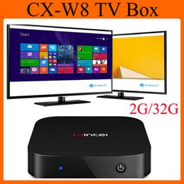 Wholesale Win8 Mini PC TV BOX Intel Atom Z3735F CPU Windows Android Smart Computer GB GB CX W8 Intel TV Box OTH130