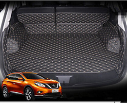 Wholesale Best quality Special car trunk mats for Nissan Murano Easy to clean waterproof leather luggage mats for Murano