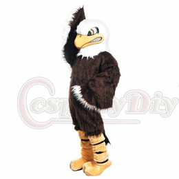 Wholesale Custom made fierce bald eagle falcon mascot costumes Halloween Costumes Christmas Party Adult Size Fancy Dress high quality factory sale